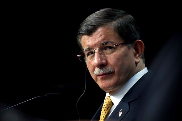Outgoing Turkish Prime Minister Ahmet Davutoğlu.