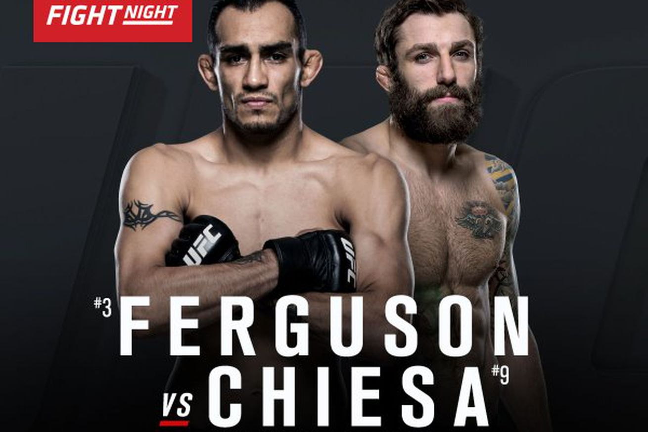 community news, Latest UFC Fight Night 91 fight card, rumors, and updates for Ferguson vs Chiesa on FOX Sports 1 in Sioux Falls