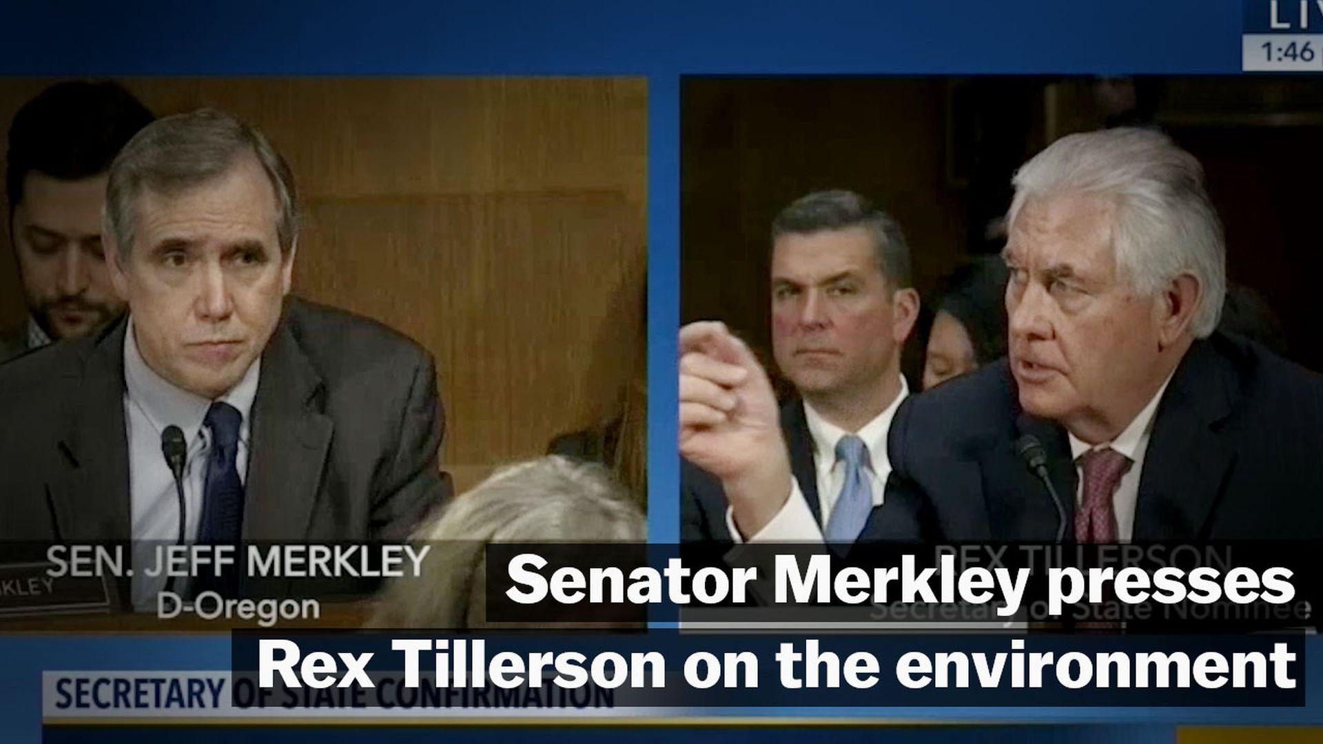 Sen. Jeff Merkley patiently exposed Rex Tillerson on climate change