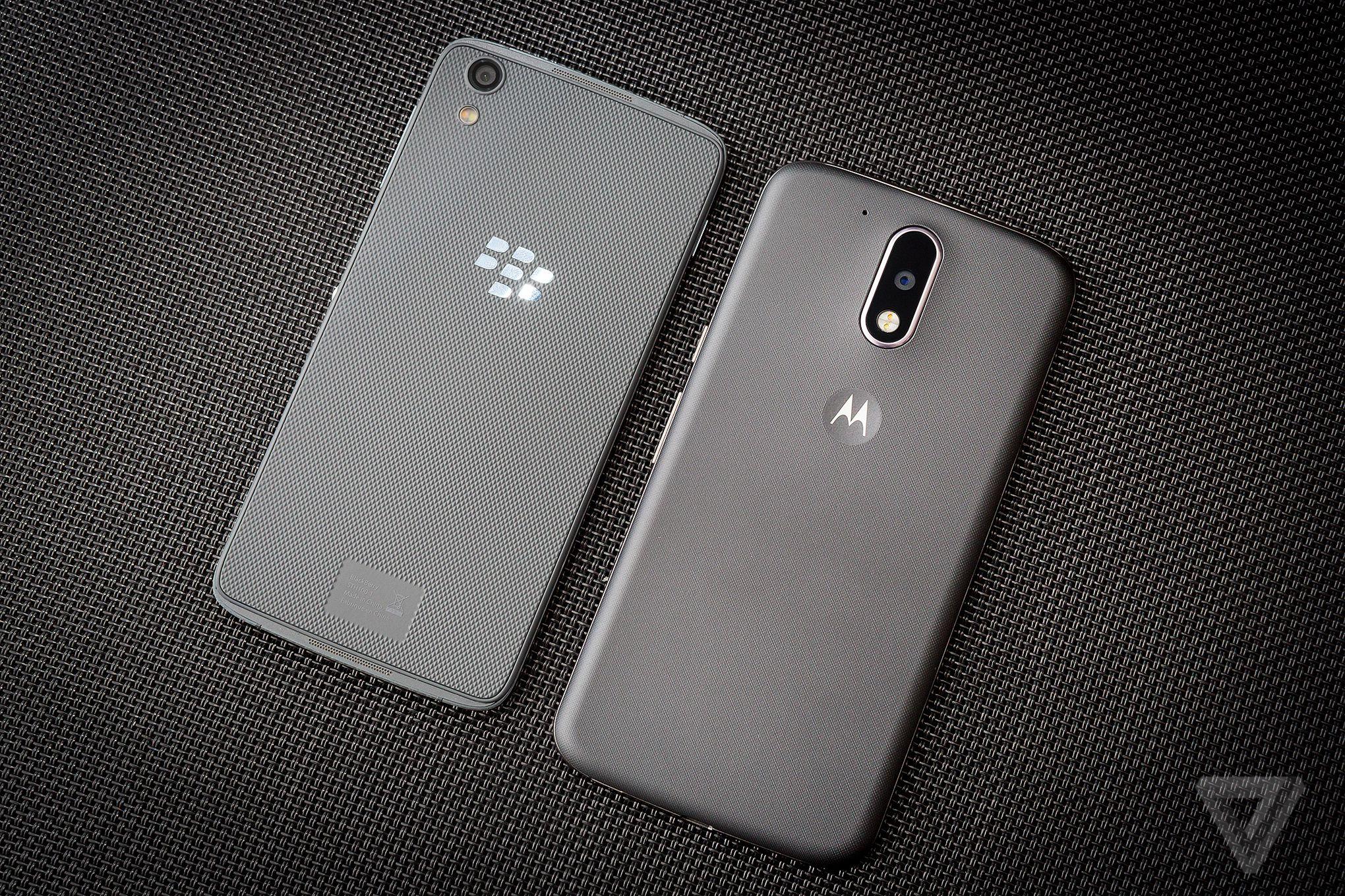 BlackBerry DTEK50 review Moto G4
