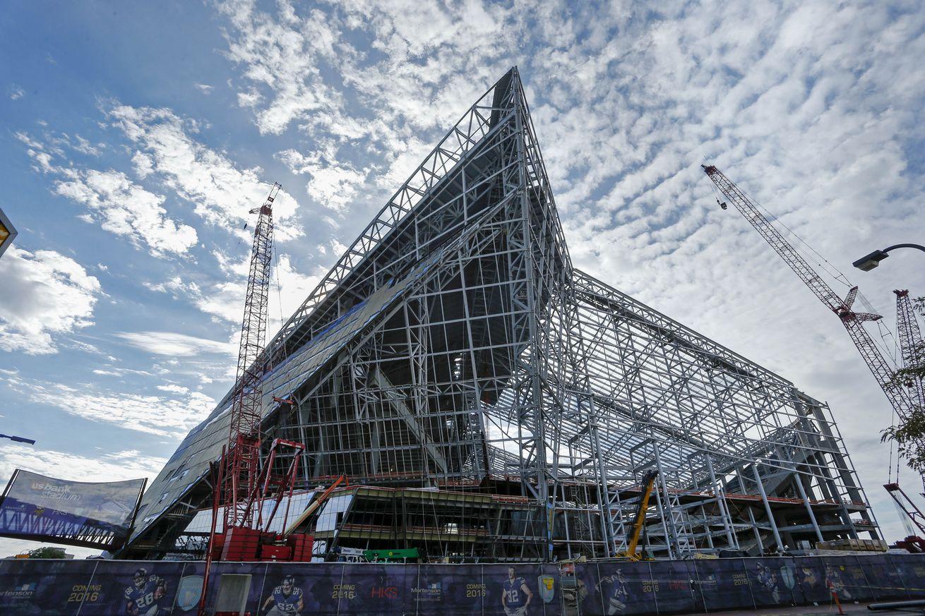 Fix needed for new Vikings stadium roof leak