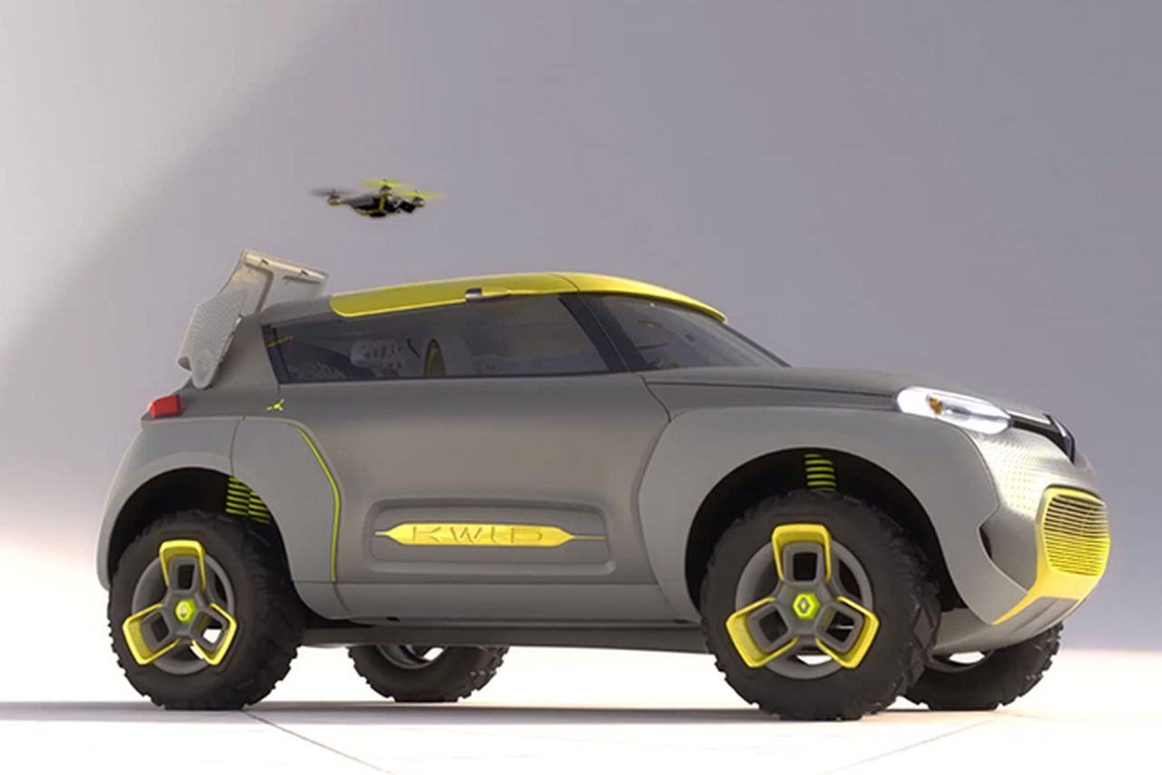 Renault concept car launches drone to check for gridlock ahead