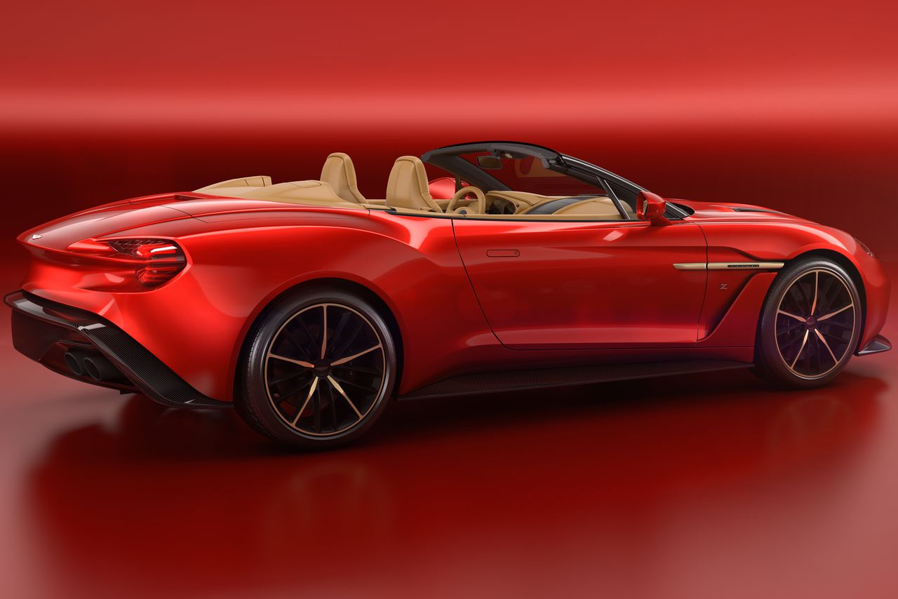 aston martin made a convertible vanquish zagato and of course it 39 s amazing the verge. Black Bedroom Furniture Sets. Home Design Ideas