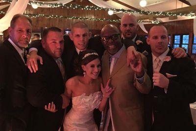 Burt Watson surprises Joe Lauzon with rollicking introduction at his wedding