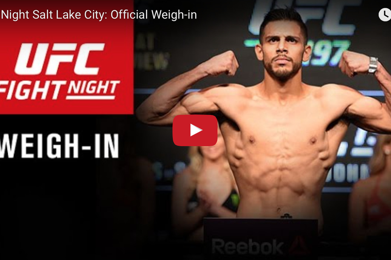 UFC Fight Night 92 weigh in video, start time, and results for Rodriguez vs Caceres