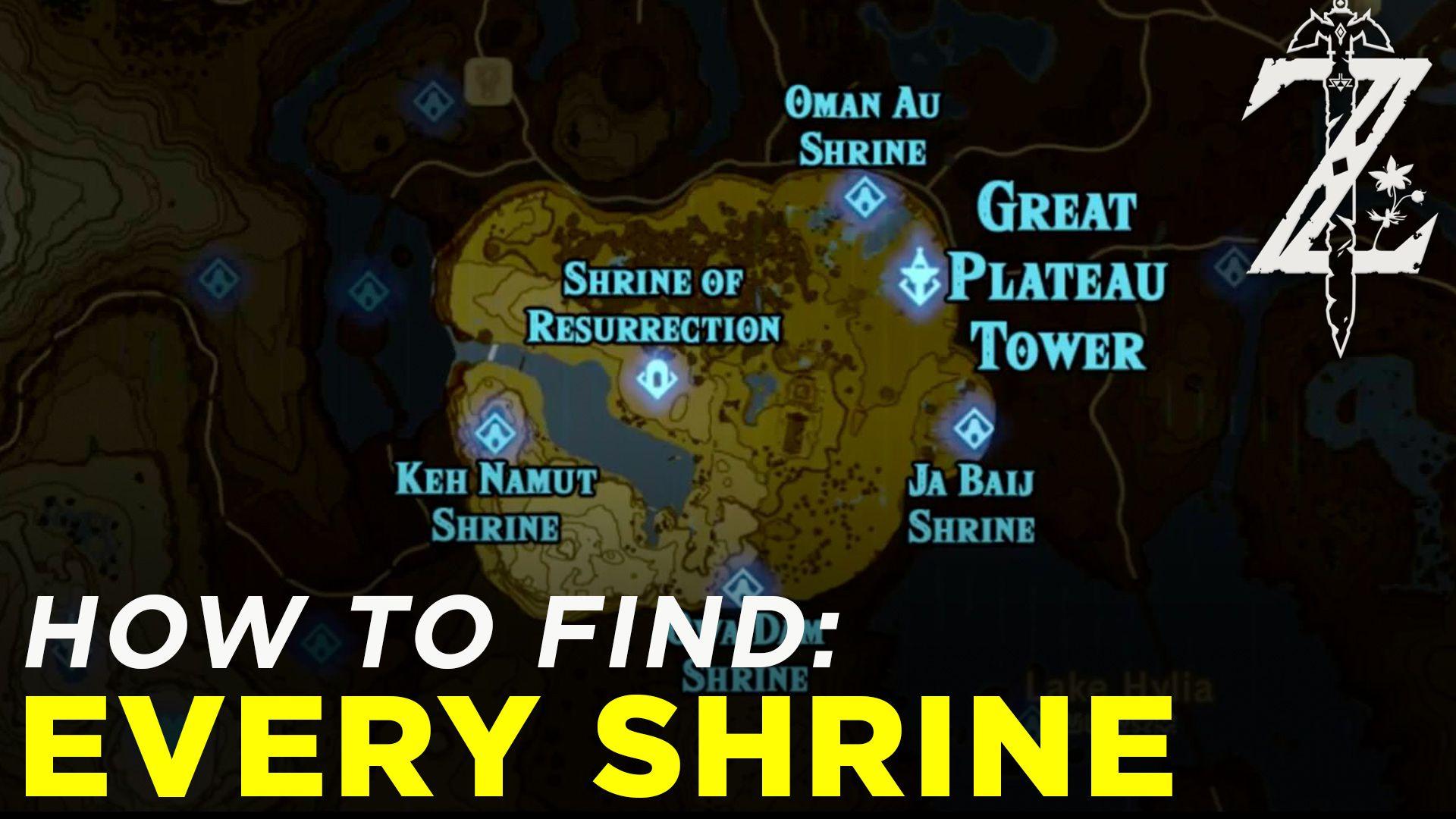 Zelda Breath Of The Wild Shrine Maps And Locations Polygon
