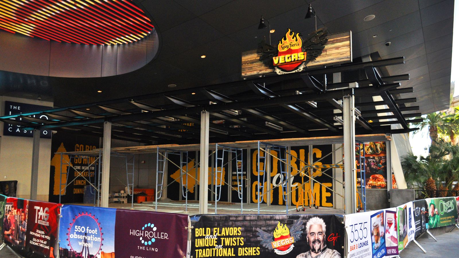 the linq upgrades fieri and adds a nook eater vegas