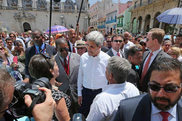 John Kerry in Havana this past August.