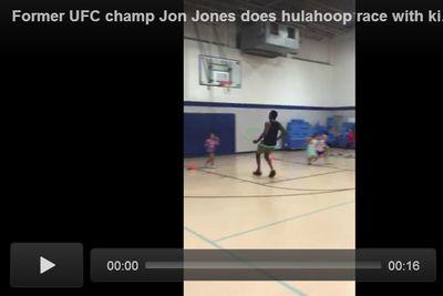 Video: Jon Jones hula hoop racing at Boys & Girls Club long before probation required him to do so