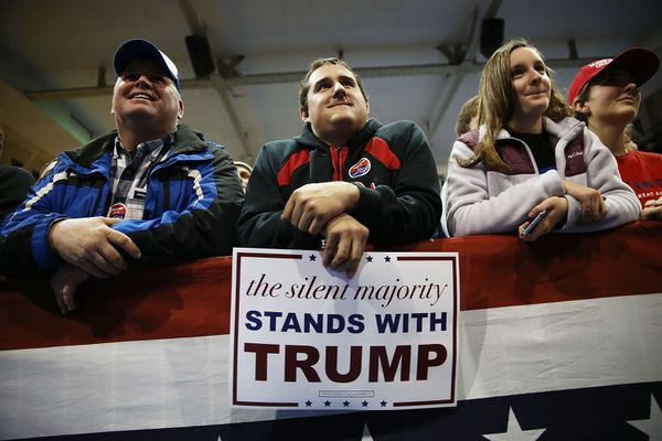 Trump supporters in Cedal Falls, Iowa.