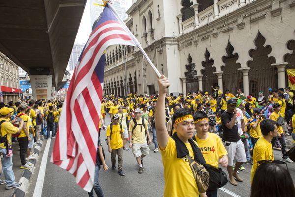 Protesters in Kuala Lumpur.