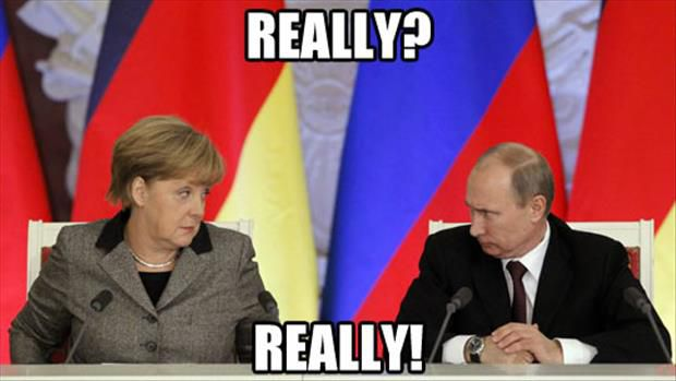 Merkel and Putin, memed just like the rest of us.