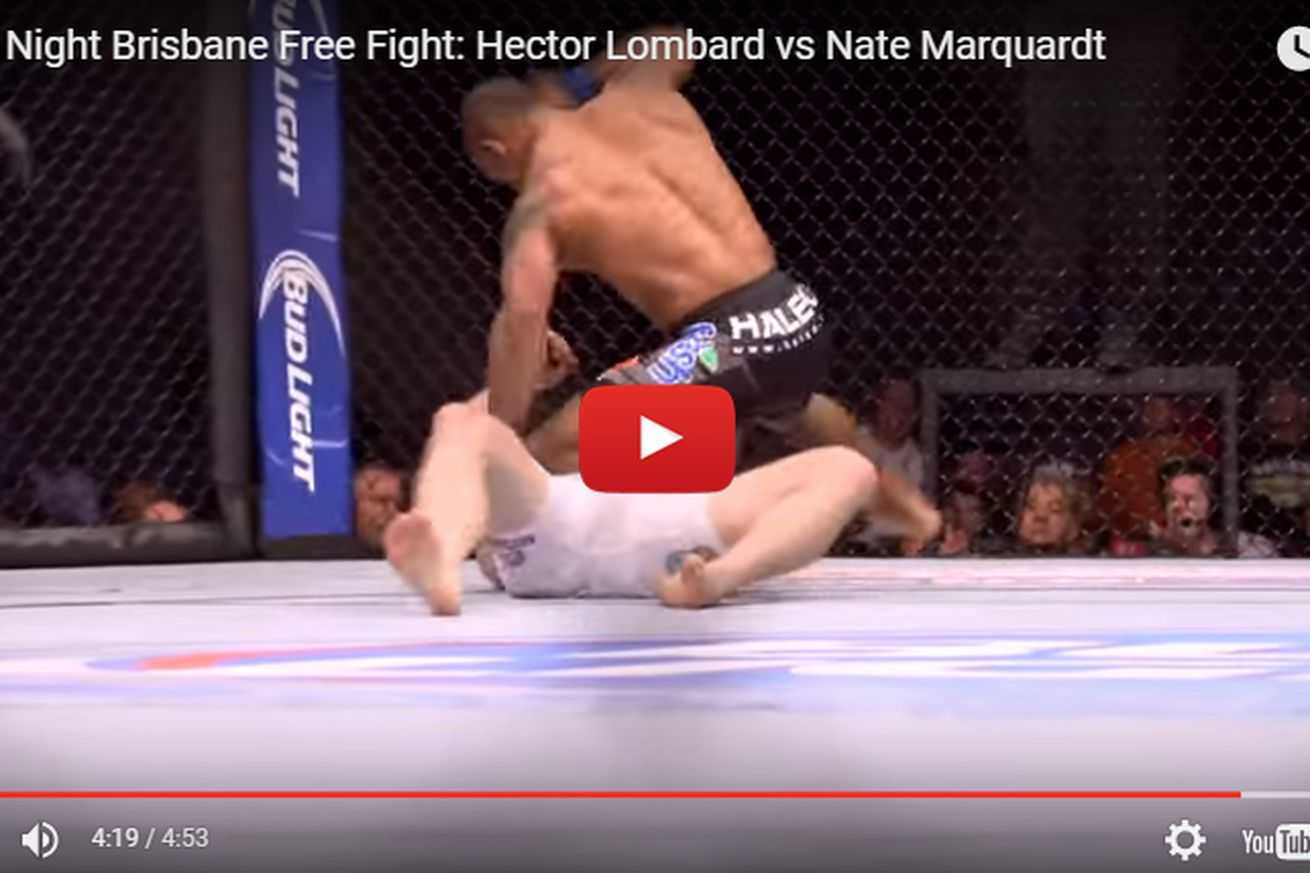 community news, KNOCKOUT! Hector Lombard vs Nate Marquardt full fight video from UFC 166