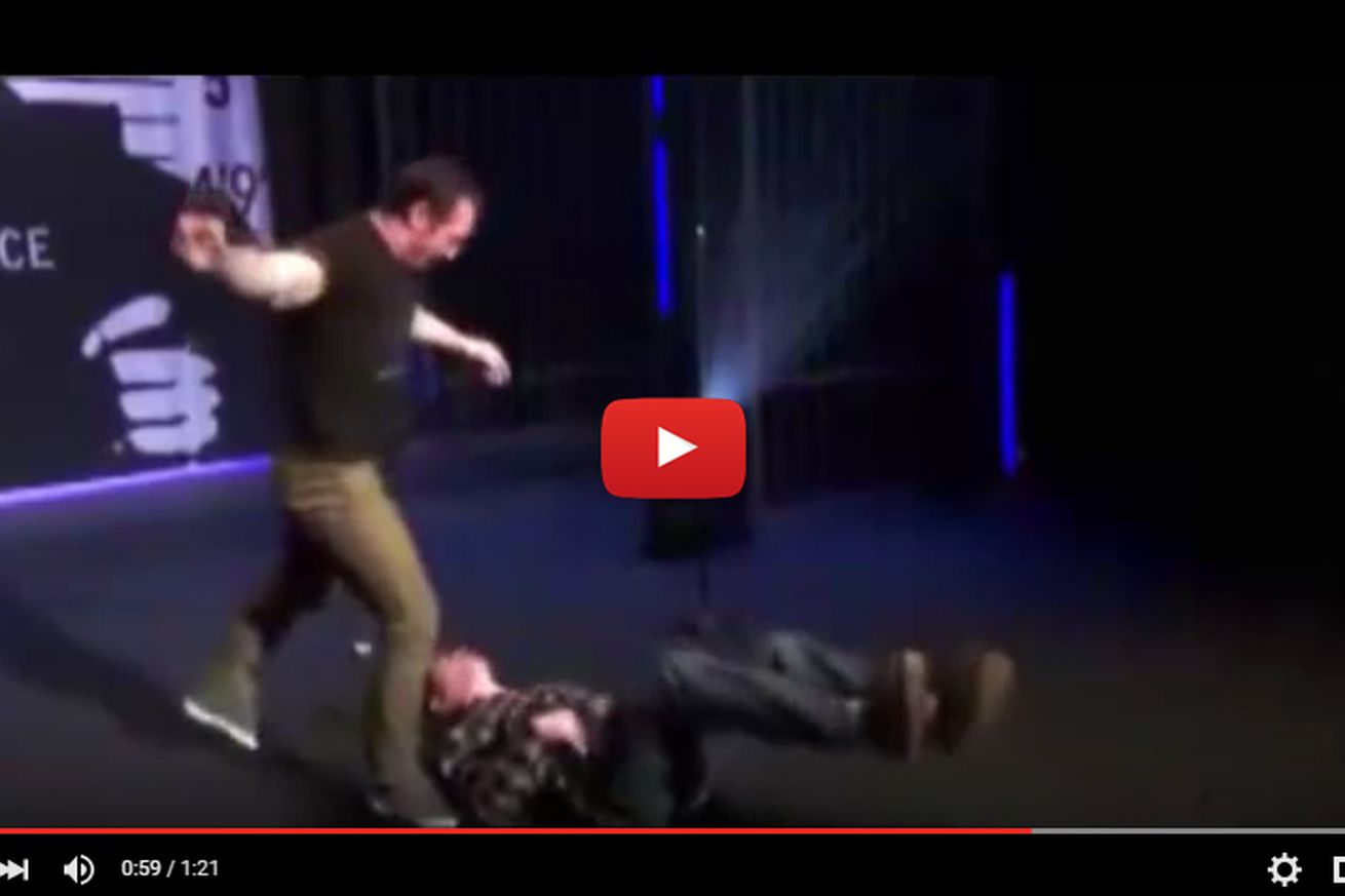 community news, Video: Tim Kennedy strangles and mangles stuntman, insists Jackass made him do it