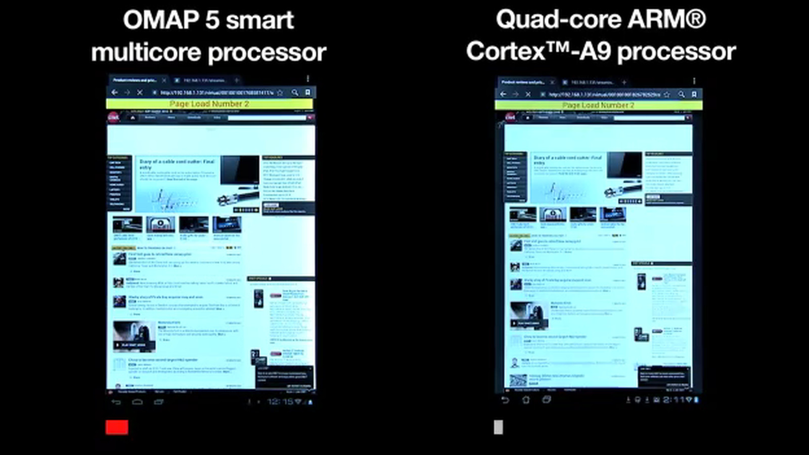 TI shows OMAP 5 dual-core chip beating quad-core A9 in ...