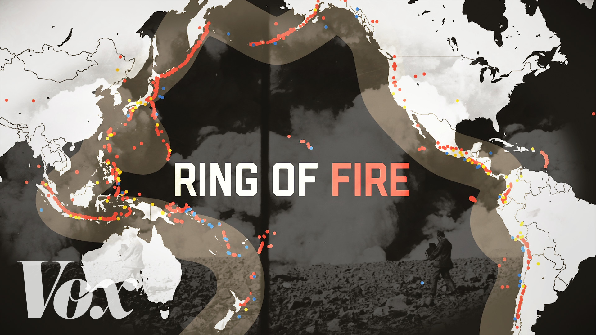 Rim Of Fire Map.Volcanoes And Earthquakes The Pacific Ring Of Fire Is Very Active
