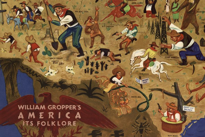 Southwest: William Gropper's American Folklore Map (Library of Congress)