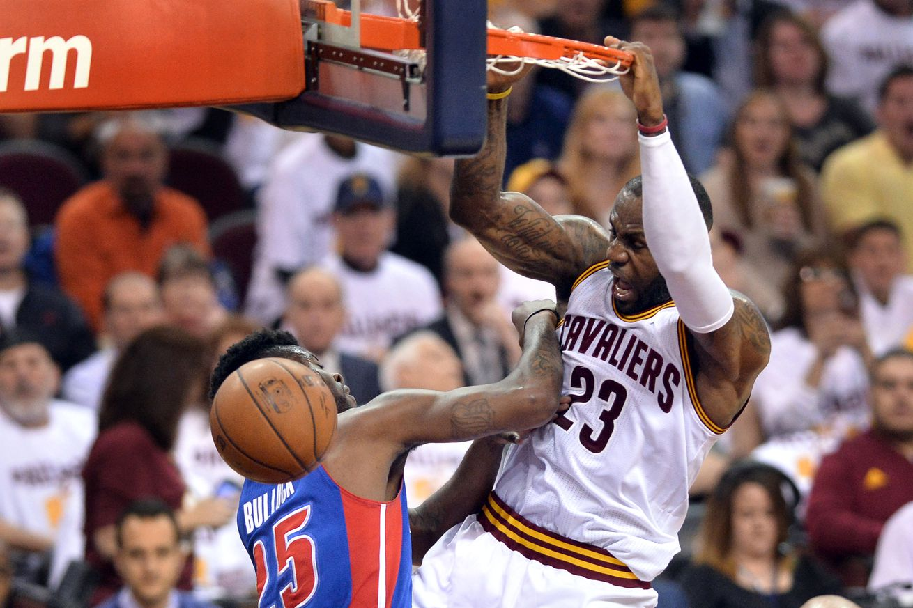 LeBron James has no chill after dunk on Reggie Bullock - Detroit