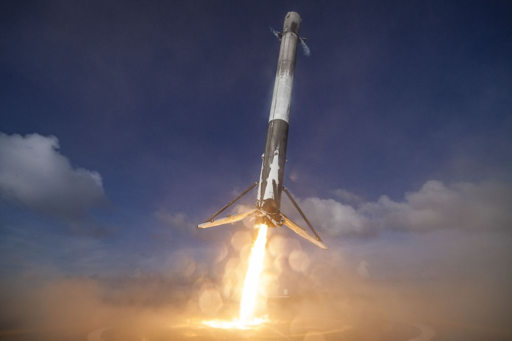 Space X landing in pictures