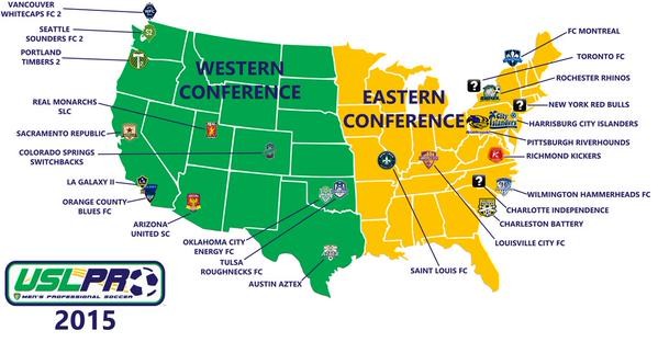 USL Pro will reportedly split into two conferences