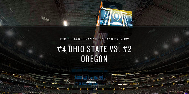 Ohio State Vs Oregon Championship Game 2015 Land Grant Holy Land
