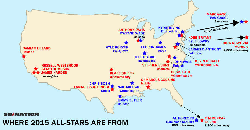 5 maps and charts that explain NBA AllStar Weekend SBNationcom