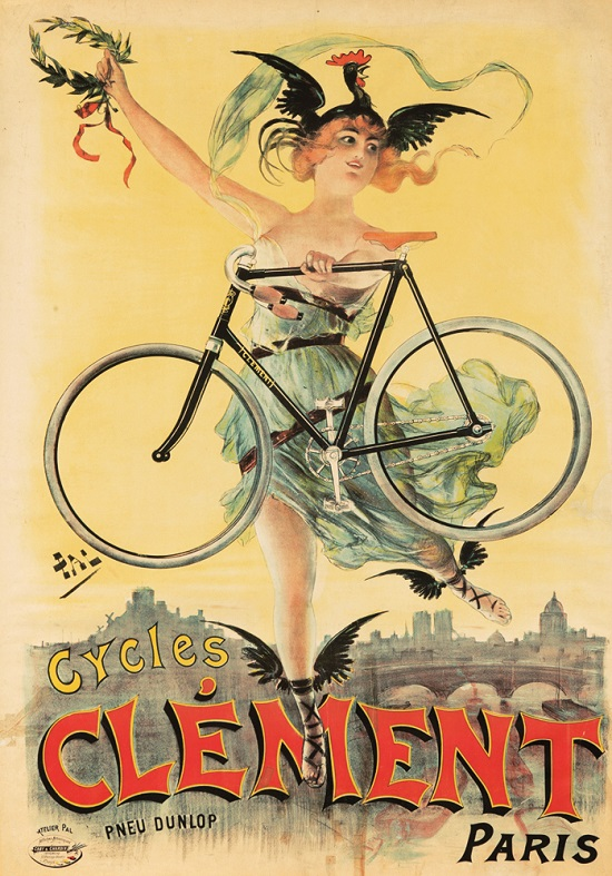 Clement Cycles advertising poster