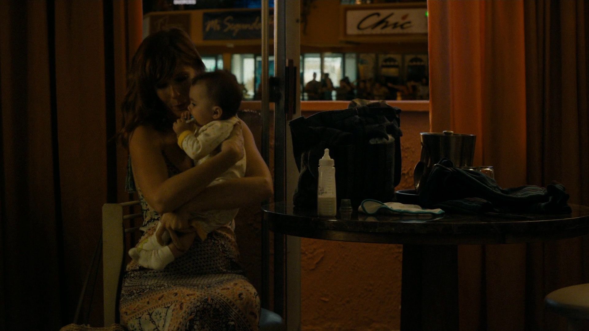 Jordan Semyon and a baby