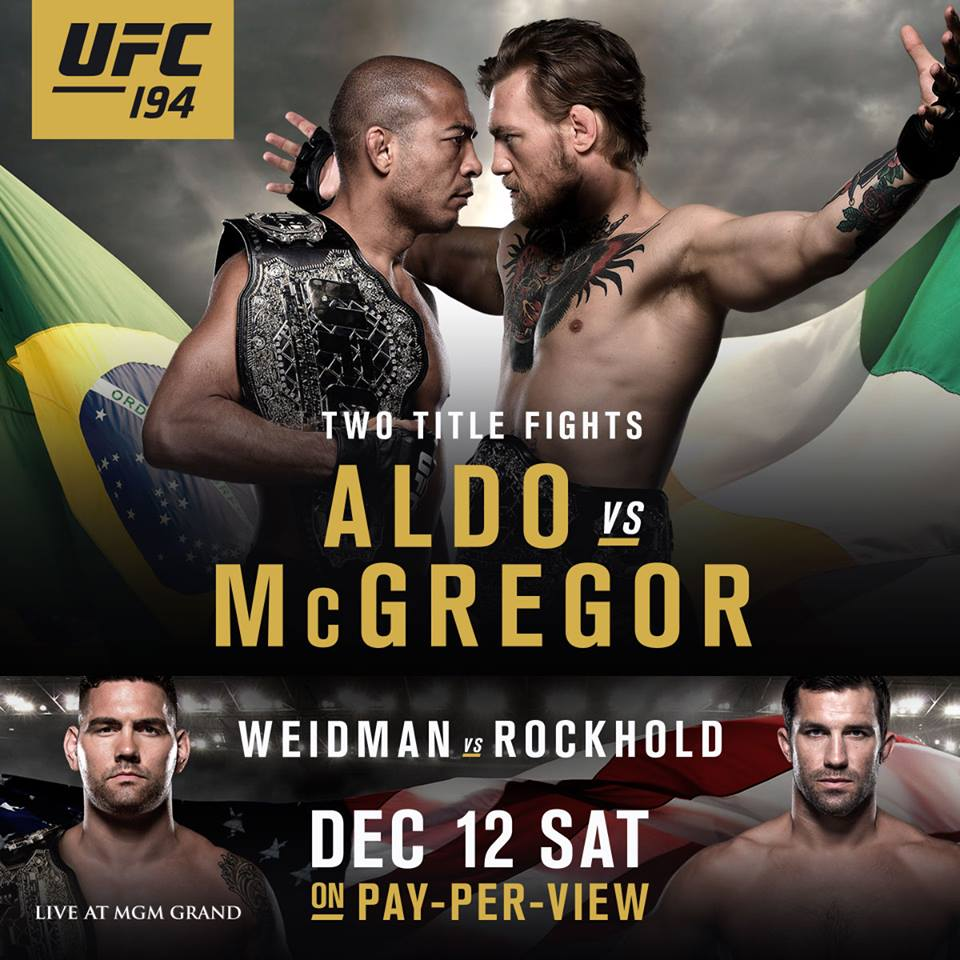 new ufc 194 poster someone in marketing has a crush on. Black Bedroom Furniture Sets. Home Design Ideas