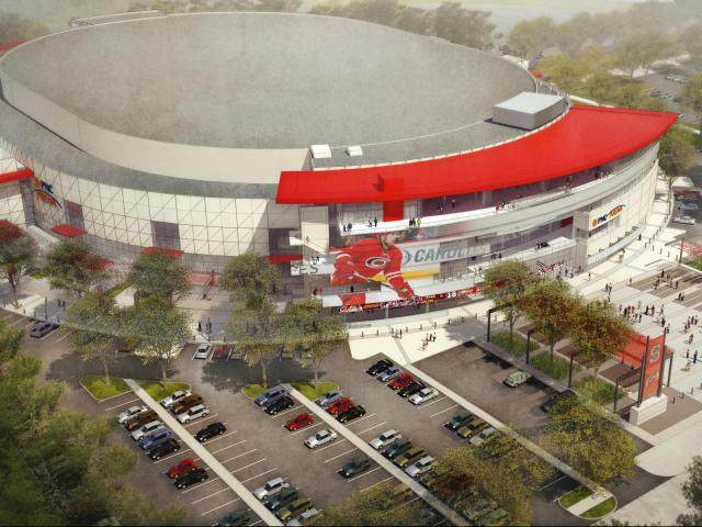 PNC Arena overhead rendering