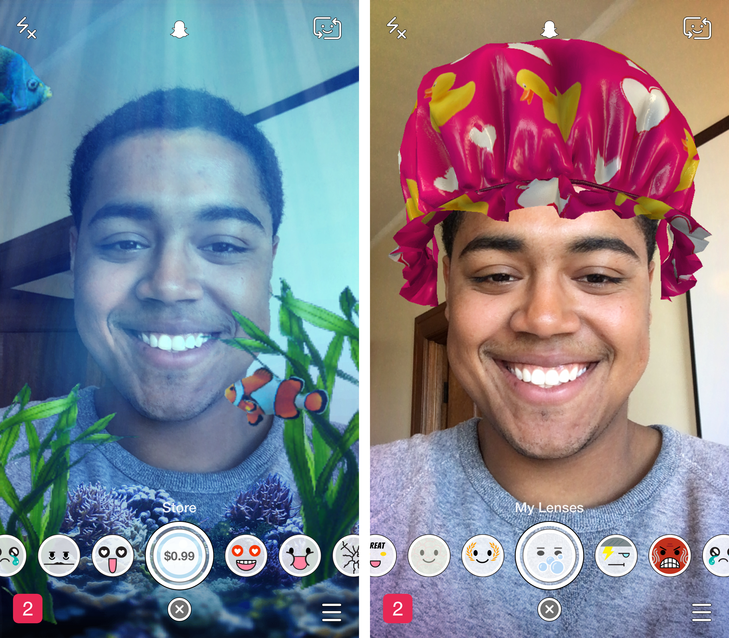 Snapchat introduces a 'lens store' to adorn your selfies with 99-cent filters - The Verge