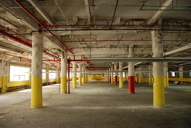 Inside a to be converted long island city warehouse curbed ny - The apartment in the warehouse ...