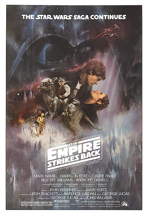 A poster for The Empire Strikes Back