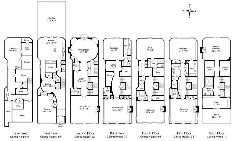 Nyc Townhouse Floor Plans: Rock Out (for $28 Million) At This Upper East Side