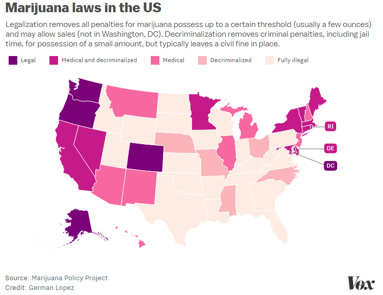 Pennsylvania Just Legalized Medical Marijuana Heres Where Other - Us map on weed laws