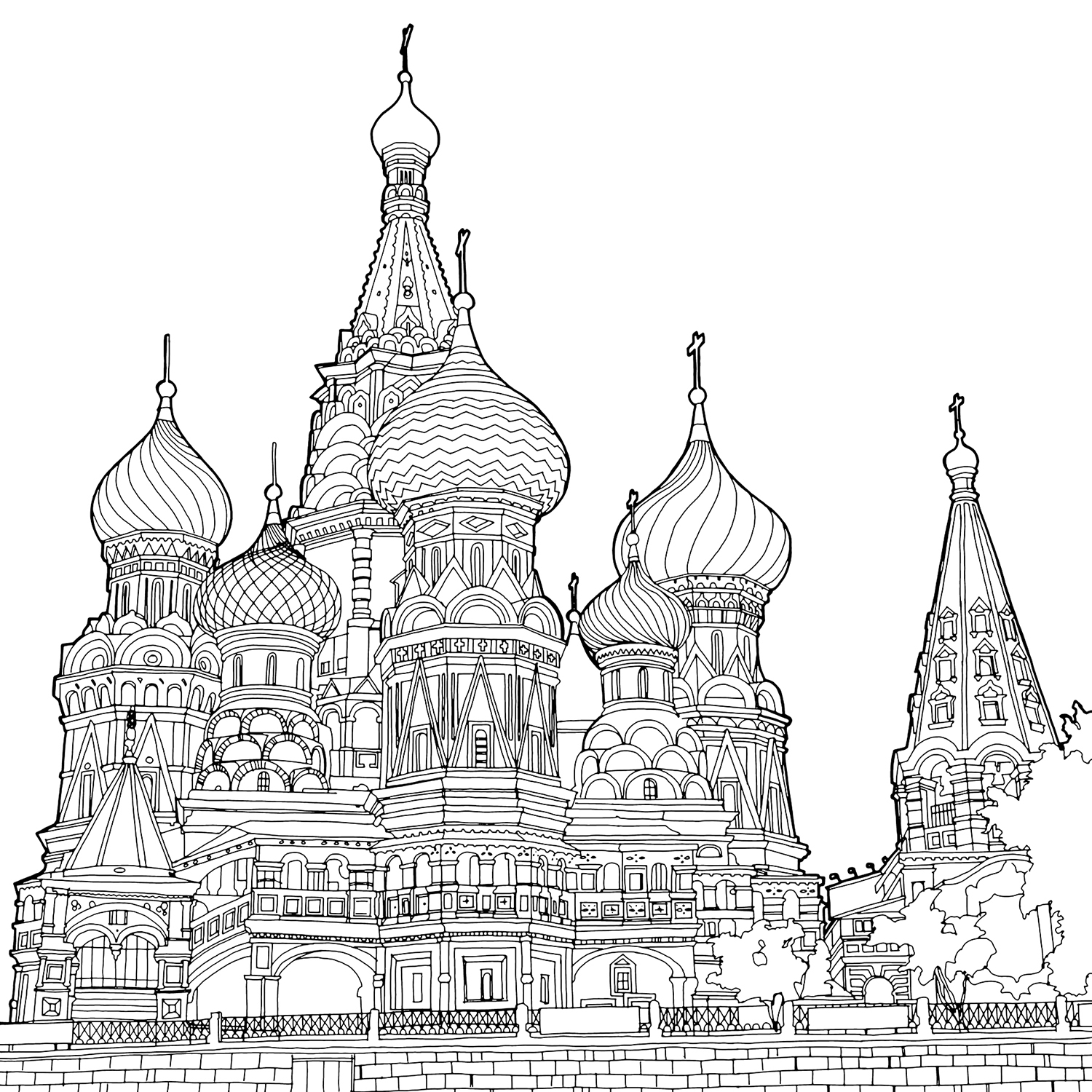 saint basils cathedral coloring pages - photo#11