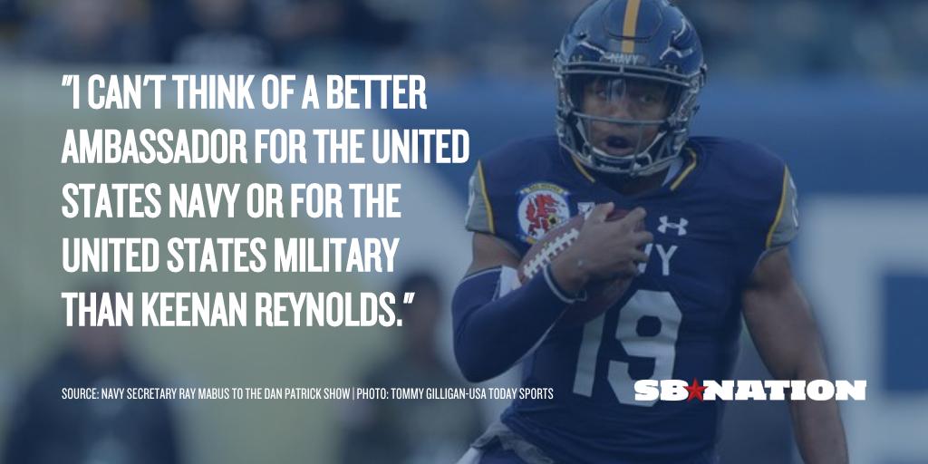 Navy secretary is 'confident' Keenan Reynolds will play in NFL