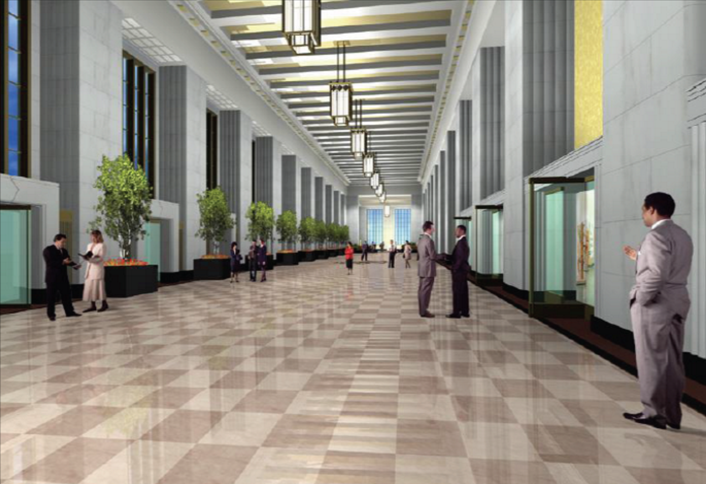 An Early Look At The Old Post Office 39 S Planned Rooftop Club And Restored Lobby Curbed Chicago