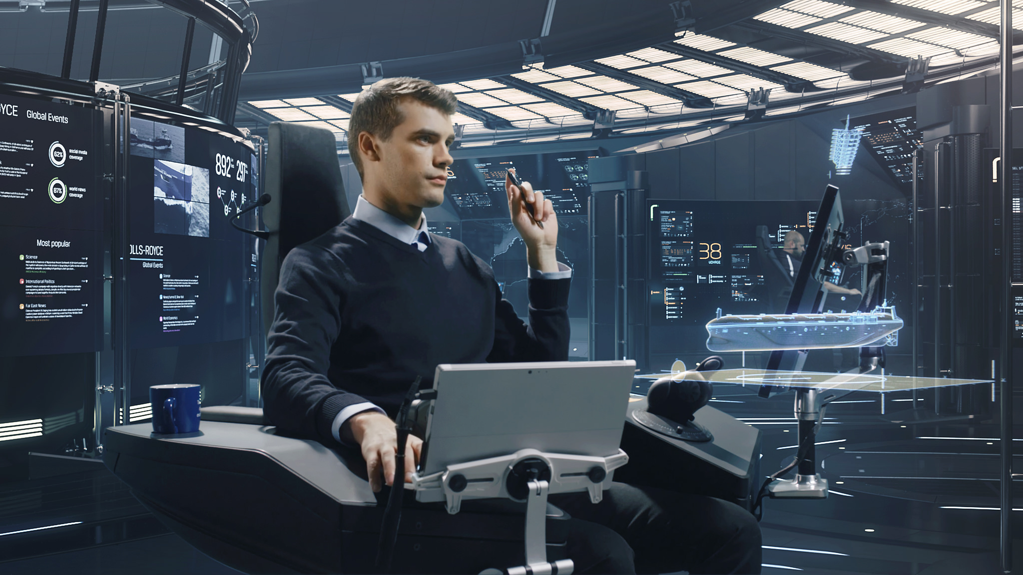 Rolls Royce Designed A Robot Boat Control Center That
