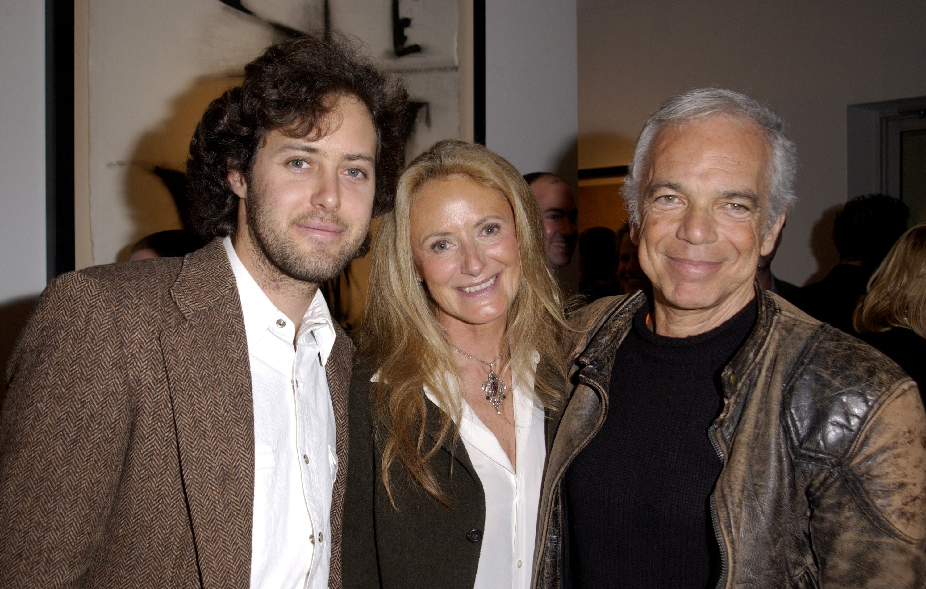 designer ralph lauren frvw  David Lauren with his parents Ricky and Ralph Lauren Photo: J Vespa/