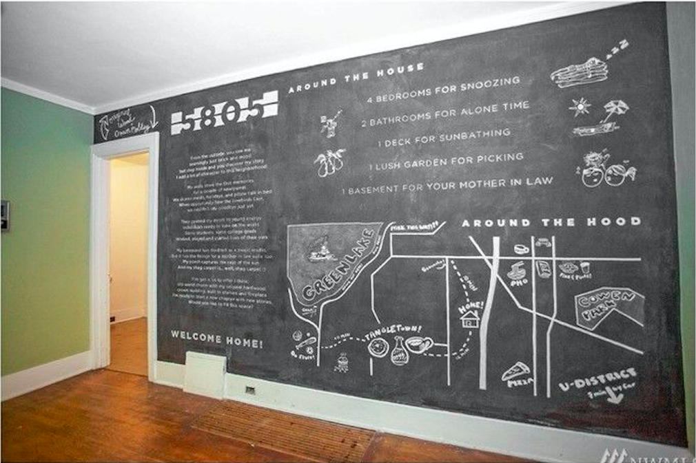 Watch As This Chalkboard Wall Tells The Story Of A Green Lake Home  Curbed Seattle