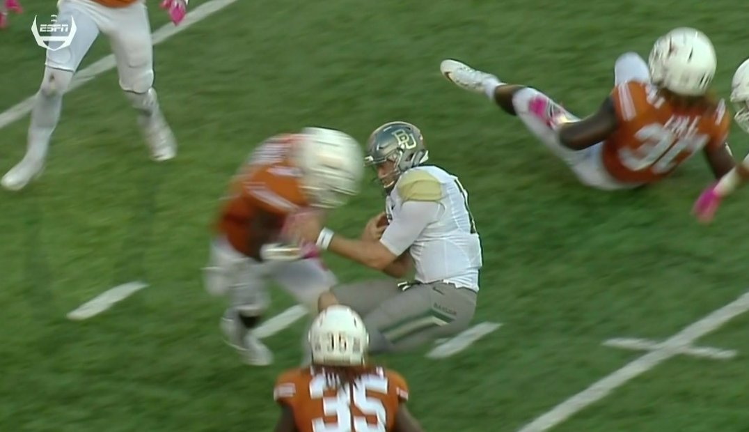 Longhorns upset Baylor, get back to .500