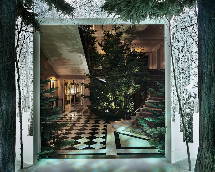 Claridge's Christmas Tree Designed By Sir Jony Ive And Marc Newson