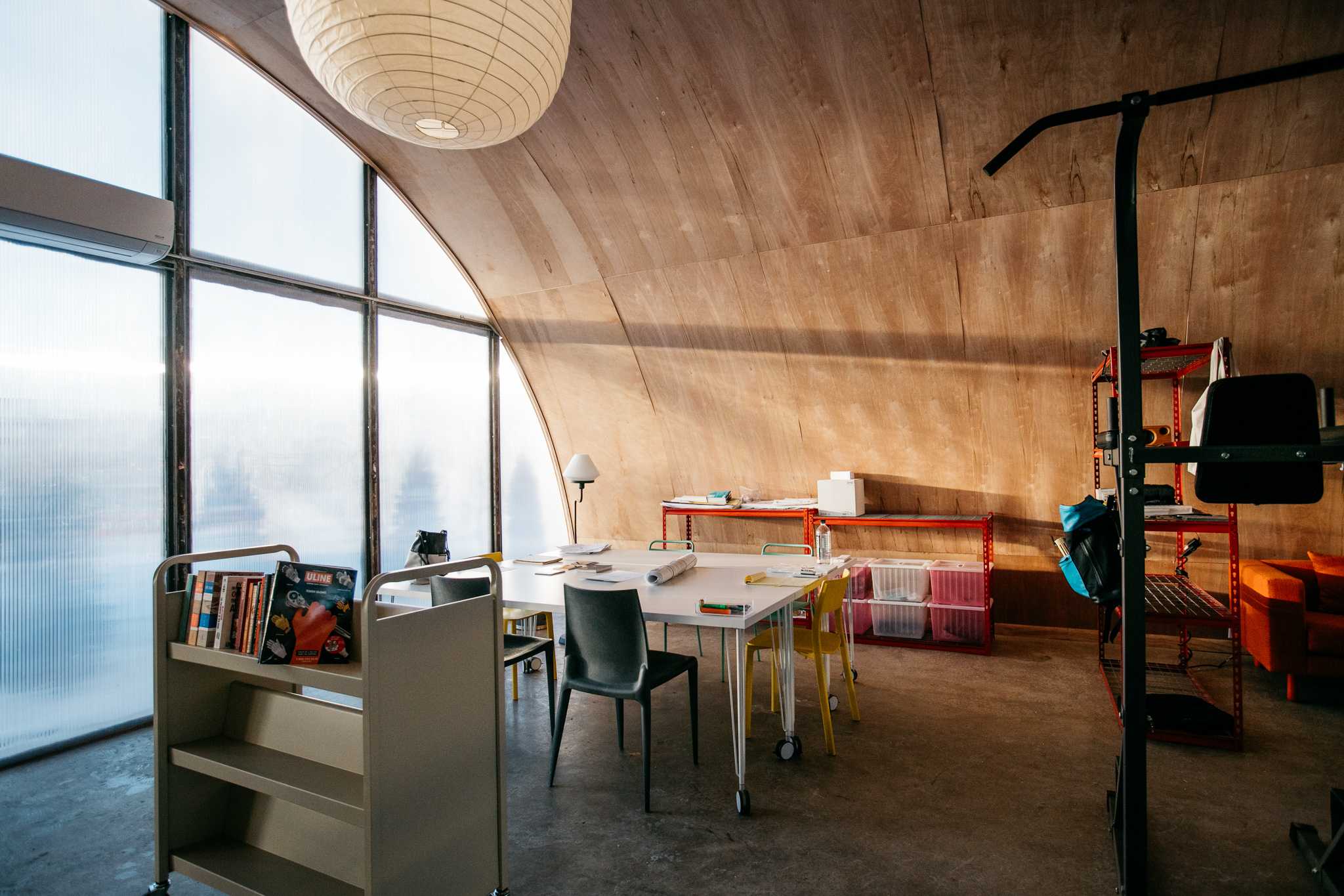 True north a community of quonset huts rises off of - Interior design jobs in michigan ...
