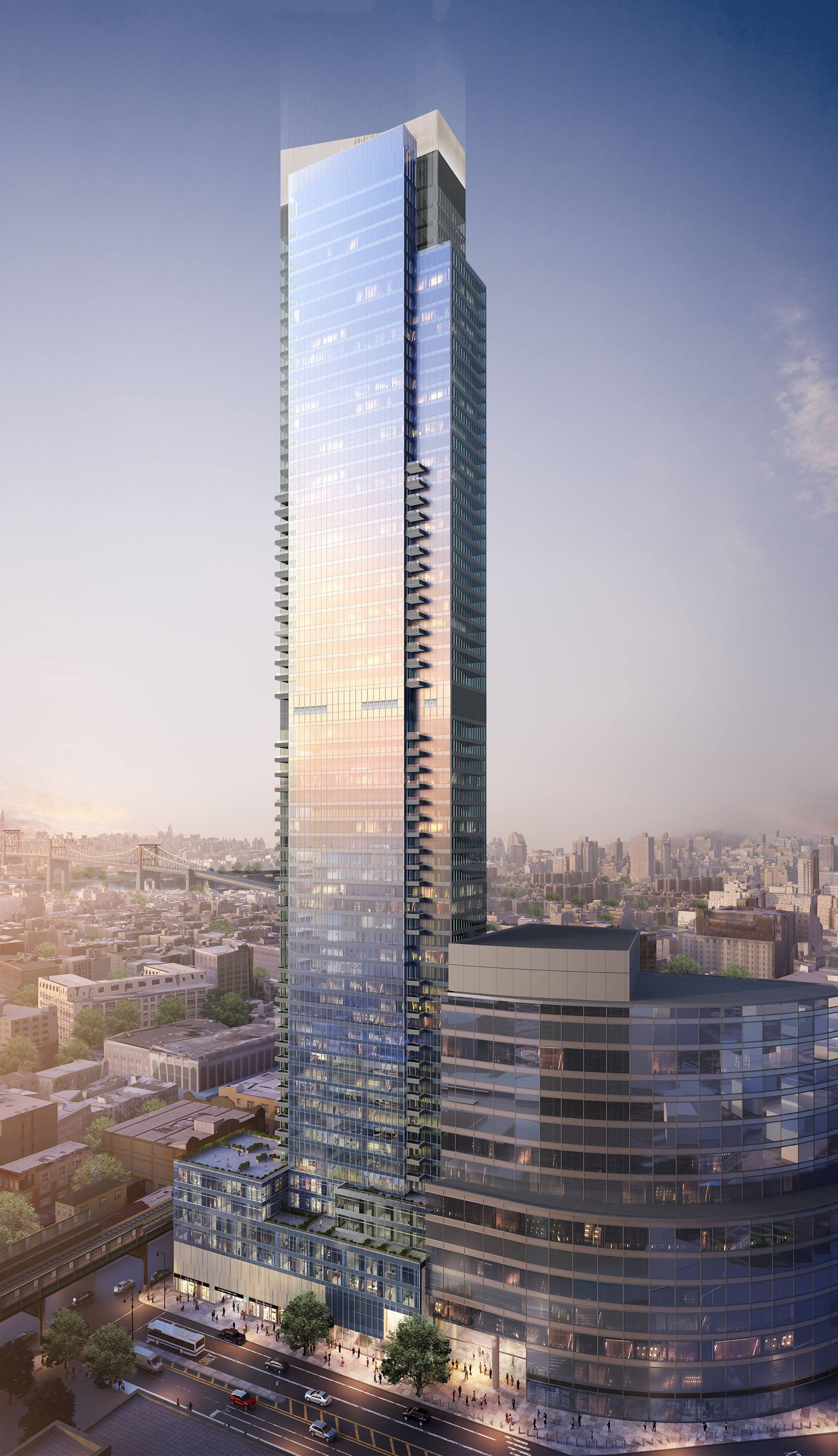 Behold New Looks At Queens S Soon To Be Tallest Tower Curbed Ny