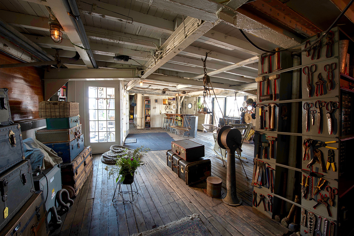 A Historic Ellis Island Ferry Is Now An Eclectic Home Seeking 1 25m