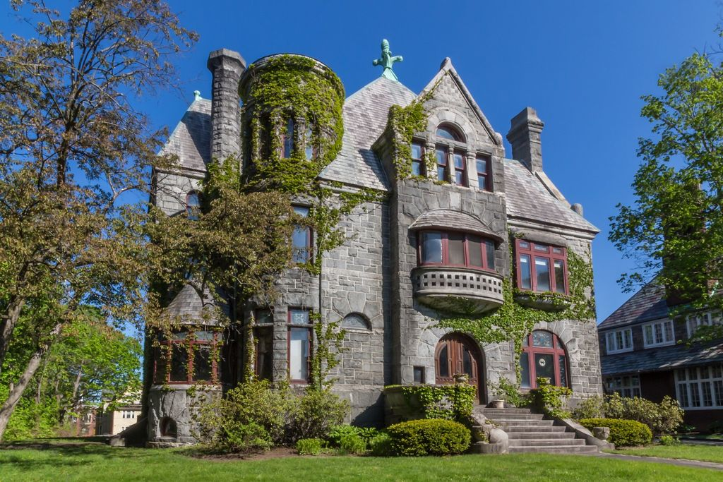 Mini castles for sale 3 romanesque revival houses to buy for Albany house