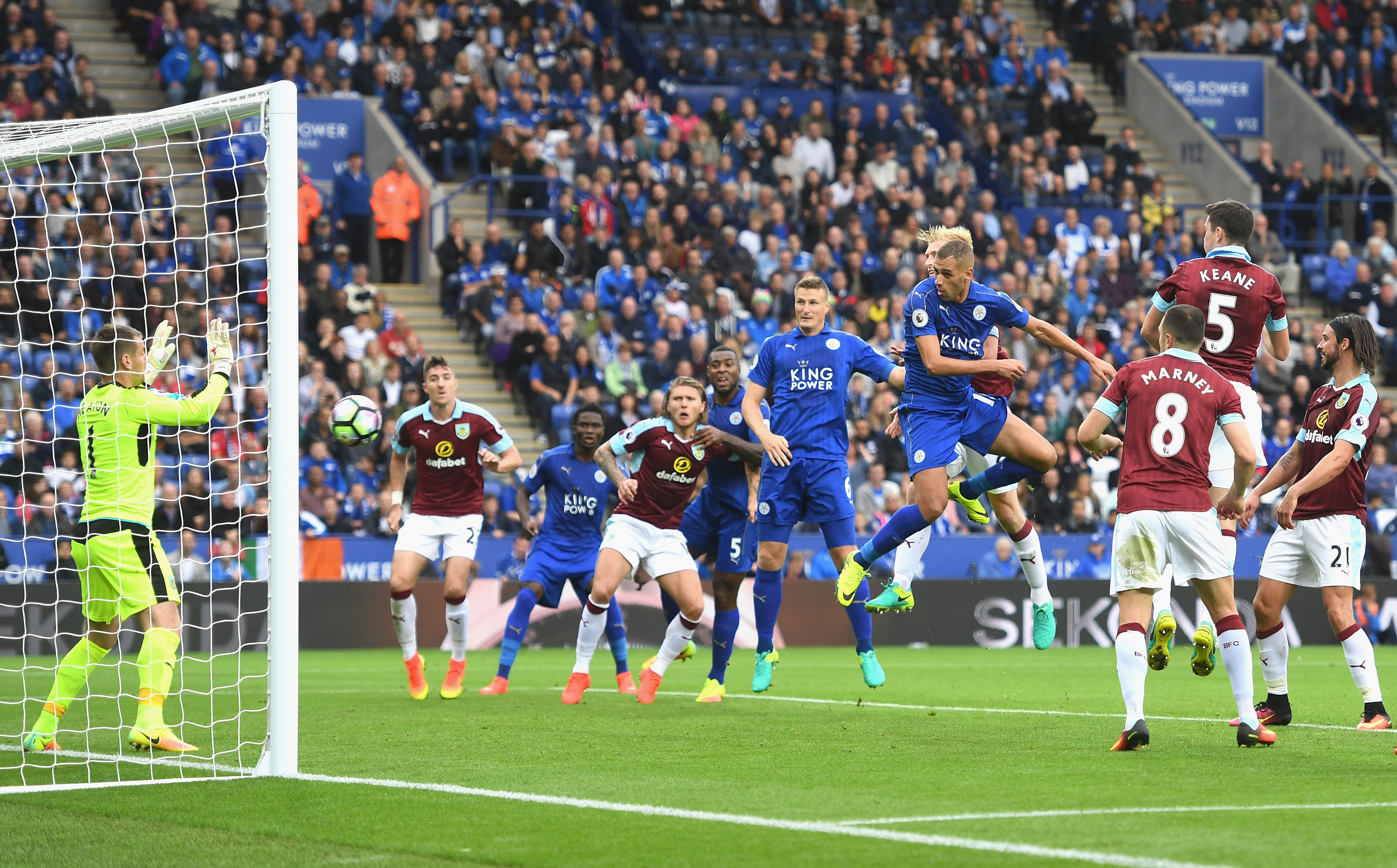 Burnley happy to receive luck in Leicester win