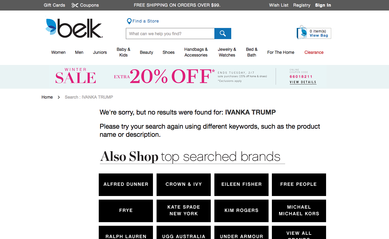 White House Defends Trump Attack on Nordstrom for Discontinuing Ivanka's Line