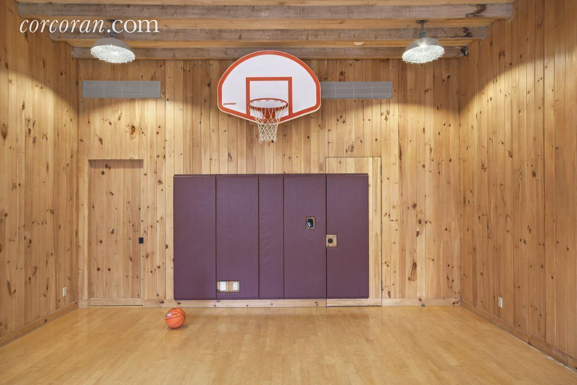 Glorious upper west side mansion with indoor basketball for Indoor basketball court for sale